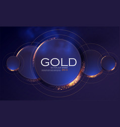 abstract overlapping circles background with gold vector image