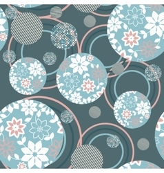 abstract seamless background geometric flowers vector image