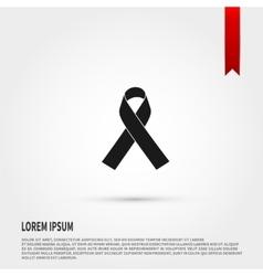 AIDS awareness ribbon icon Ribbon AIDS icon vector image