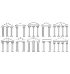 ancient pediments greek and roman architecture vector image