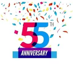 anniversary design 55th icon vector image
