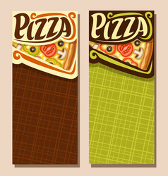 Banners for pizza vector