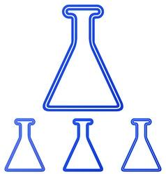 Blue line research logo design set vector
