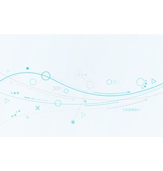 blue lines circles and different symbols vector image
