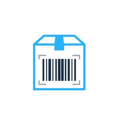 box barcode logo icon design vector image