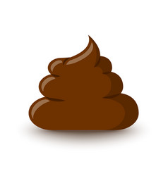 brown poop icon placed on white background vector image