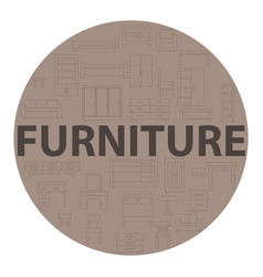 brown poster furniture vector image