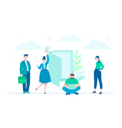 Business team - flat design style colorful vector