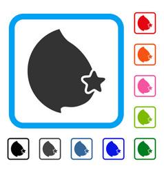 Censored female breast framed icon vector