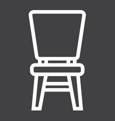 chair line icon furniture and interior vector image