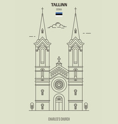 charless church in tallinn vector image