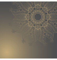 Circle hand drawn arabic style Ornament vector image