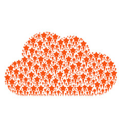 Cloud shape of starting star icons vector