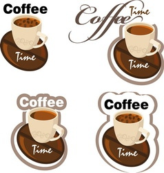 coffe 3 new vector image