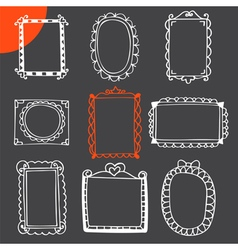 Collection of hand drawn frames Cute photo frames vector