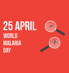 Collection world malaria day background vector