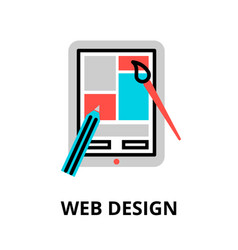 Concept web design icon vector