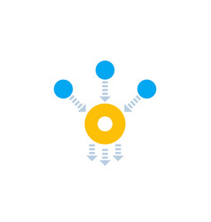 Consolidation or merge icon on white vector