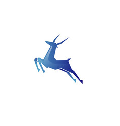 Creative abstract blue gazelle technology logo vector
