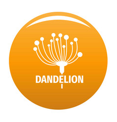 Cute dandelion logo icon orange vector