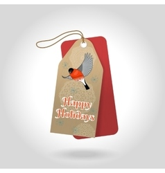 Cute happy holidays christmas gift tags vector