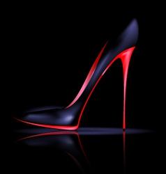Dark shoe vector