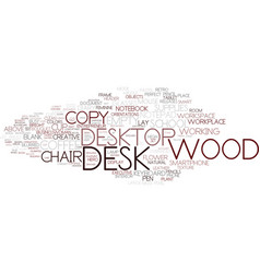 Desk word cloud concept vector