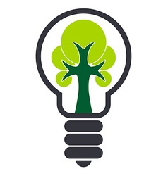 Ecology Bulb Drawing vector image
