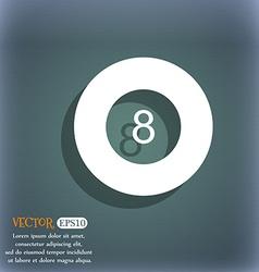 Eightball Billiards icon On the blue-green vector