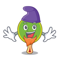 elf ping pong racket character cartoon vector image