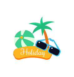 exotic holiday vector image
