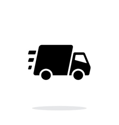 Fast delivery Truck icon on white background vector image