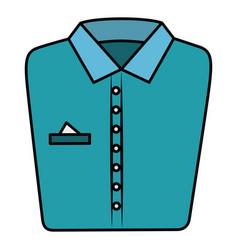 folded shirt isolated icon vector image