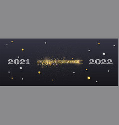 from 2021 to 2022 hand drawn numbers glittering vector image