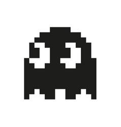 Ghosts monster racing arcade retro game icon vector