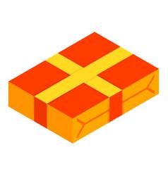 gift box icon isometric style vector image