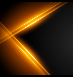 Glowing light streaks background vector