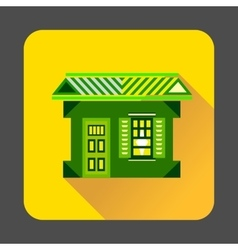 Green house icon flat style vector image
