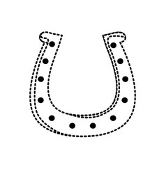 horseshoe icon image vector image