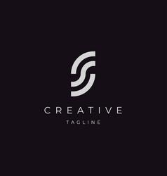 Initial letter s ss logo design vector