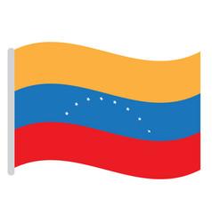 isolated venezuelan flag vector image