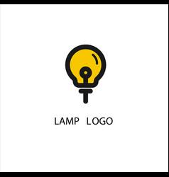 Lamp logo concept design modern vector
