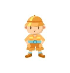 Little Boy Dressed For Safari vector