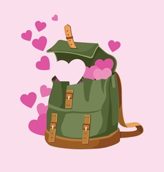 Love backpack 001 vector