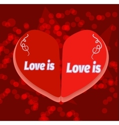 Love is for decoration bag t vector image