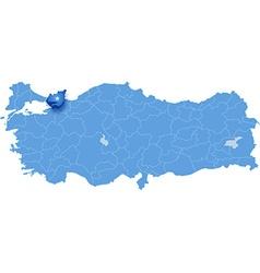 Map of Turkey Kocaeli vector