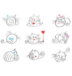 March cats happy vector
