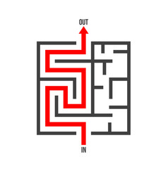 maze logo isolated labyrinth game puzzle vector image