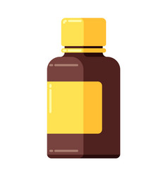 medicine bottle icon in flat style vector image