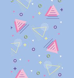 memphis geometric seamless pattern different vector image